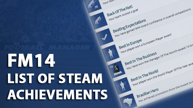 FM14 Steam achievements