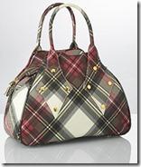 Vivienne Westwood Plum Plaid Handbag