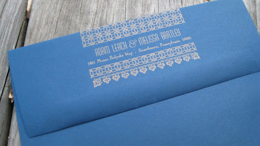 Even the back flap of the invitation's envelope was letterpressed.