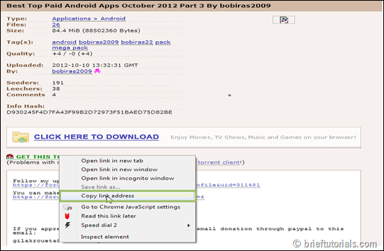 torrent download instruction