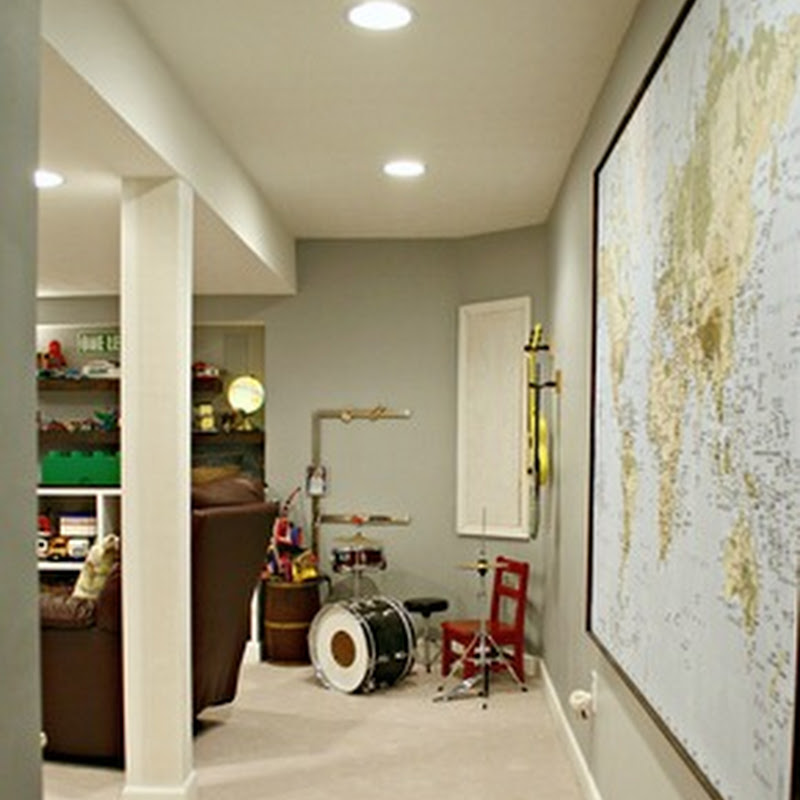 Rustic Charm in the Basement