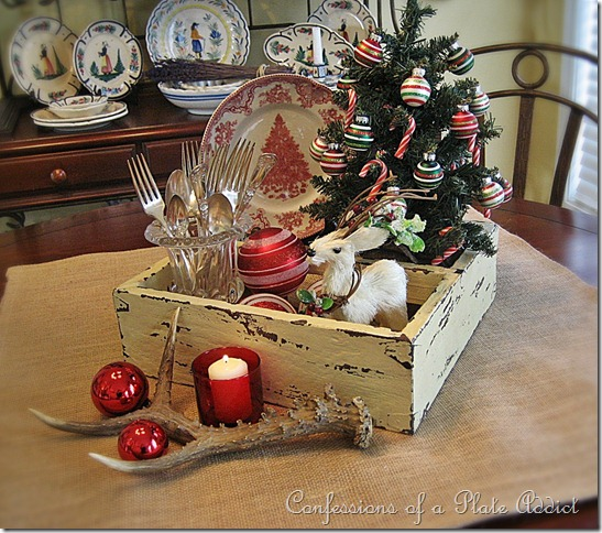 confessions of a plate addict rustic christmas centerpiece - Rustic Christmas Centerpieces