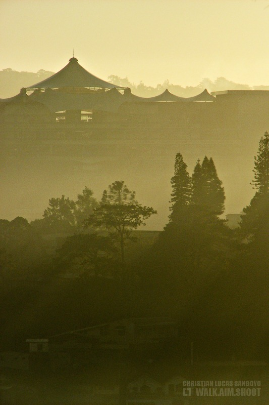 Baguio City Covered in Morning Mist