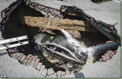 sink hole car
