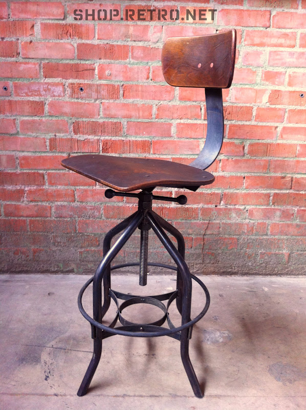 VI chair.jpg - Toledo Reproduction Drafting Stool / UHL Chair Vintage