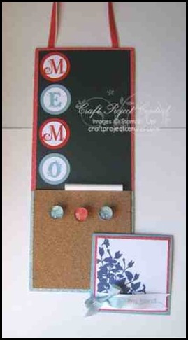 Memo Board, cpc, Laurie Zoellmer, craft project central, blog candy, october, membership, sharon_field, createdbyu.blogspot.com, projects, big shot, kid friendly, cork, 3-d, cards, holidays, pumpkins, punches