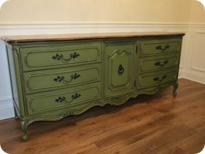 green dresser after