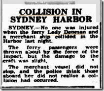 collision with ship