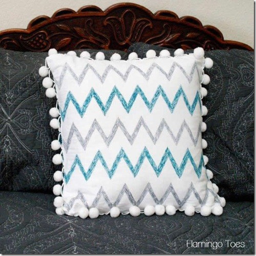 chevron stitched pillow
