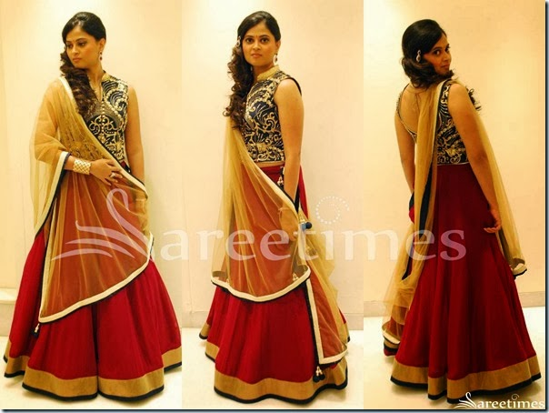 Red_Plain_Lehenga