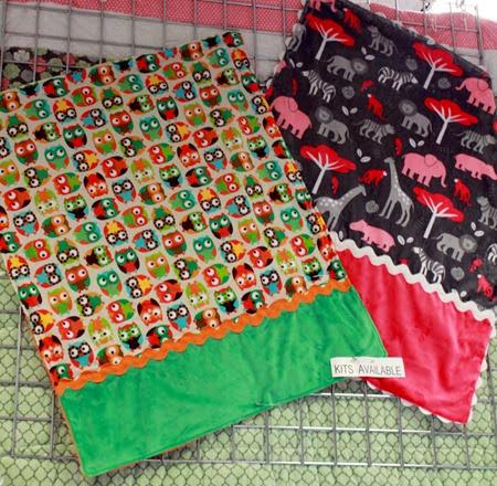 Minky Snuggle Blanket kits