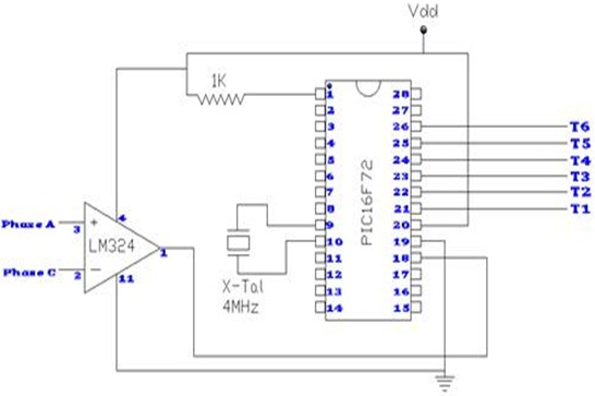 Connection Diagram for Controlled Rectifier