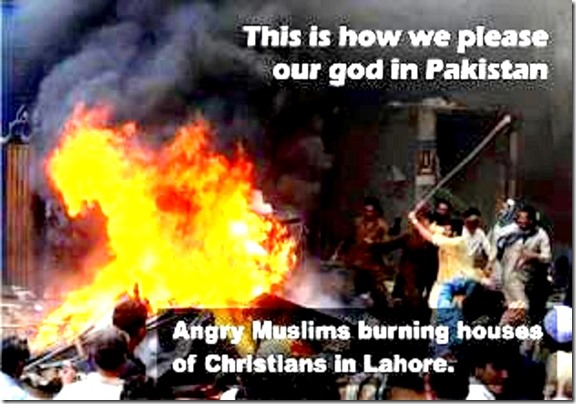 Pleasing allah by burning Christian homes