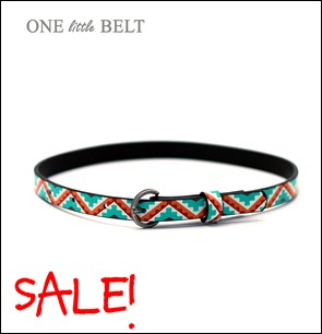 tribal print toddler belt
