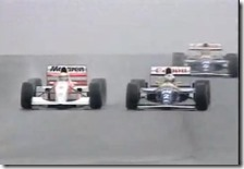 Senna supera Prost nel gran premio d'Europa 1993