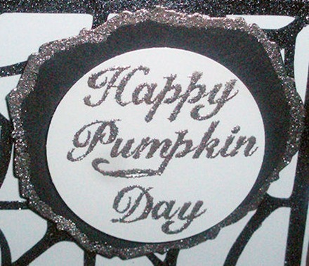 Happy Pumpkin Day Saying Close up