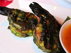 Green Prawns: Wild tiger prawns – coriander, mint and chilli