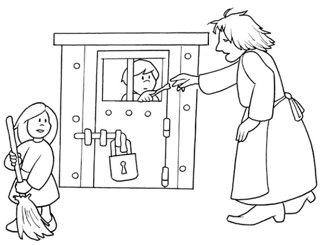 hansel si gretel coloring pages - photo#24