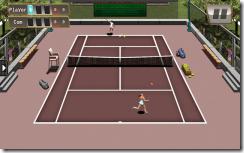 مباراة تنس نسائية على ملاعب حمرة فى لعبة Holic Tennis للأندوريد