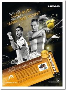 Cartel Promoción Golden Ball HEAD