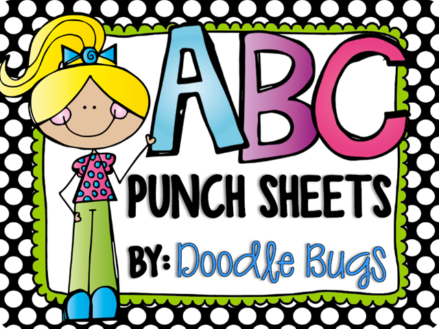 ABC punch sheets