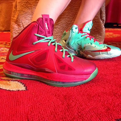 nike lebron 10 gs christmas 2 01 Heres How Chrismas Nike LeBron 11 Compares to Xmas 10s