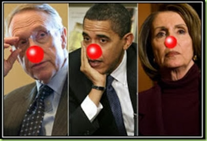democrats send in the clowns barack obama harry reid nancy pelosi motivational posters