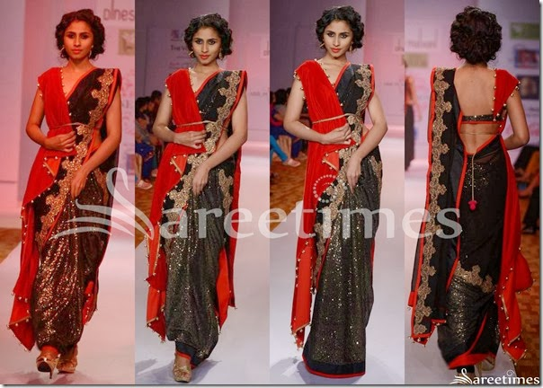 Dinesh_Malkini_Black_Saree