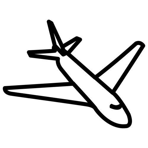 Figura de avion para colorear - Imagui