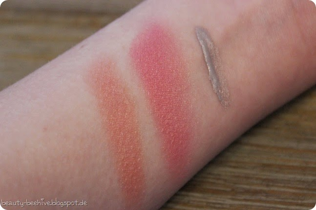 alverde fablulous fifties le kollektion haul shopping einkauf swatches blush blushes rouge rouges dizzy peach lolli pink tease me grey eyeliner swatches swatch review 4 (2)