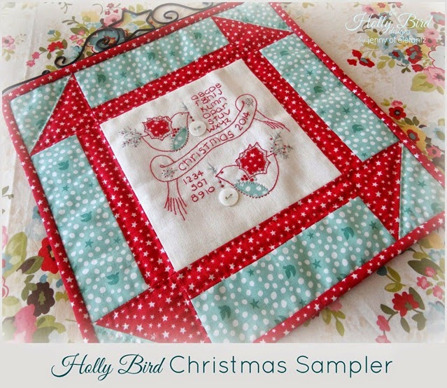 Holly Bird Sampler Jenny of Elefantz Christmas Main Photo