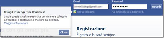 Facebook Resta collegato