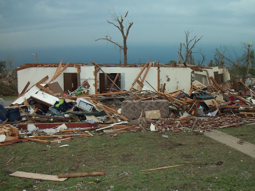 A destroyed home in Joplin, Missouri. (Photo credit: Missy Belote)