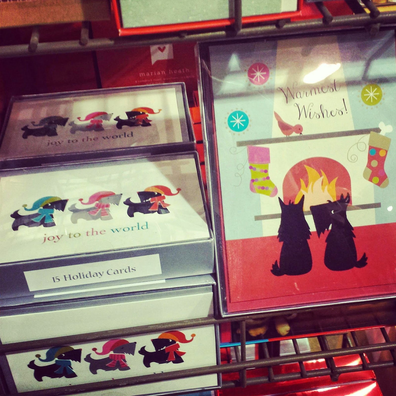Scottie mom this weeks scottie finds set of 15 holiday scottie dog greeting cards 1299 at world market m4hsunfo