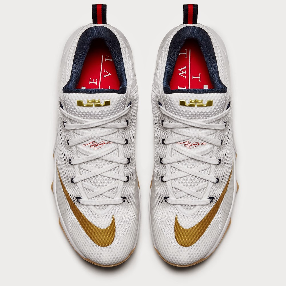 buy popular c7d4a 8ad87 ... greece release reminder nike lebron xii low 8220usa8221 7e68e 1d136