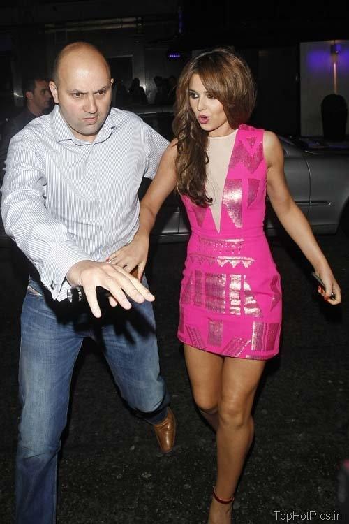 Cheryl Cole Hot Pics in Pink Short Dress 5