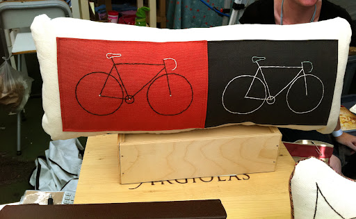 I also liked this pillow with a bicycle design.