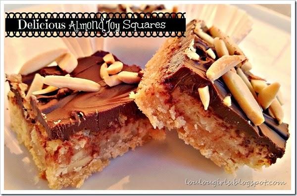 almond joy squares