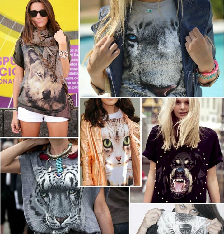 Camisetas-bichos-animais-face-tshirt