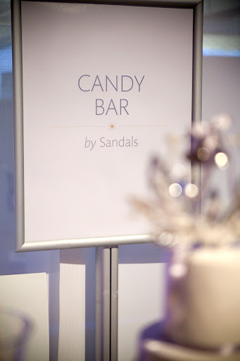 Joann Delgin, Romance Director at Sandals Resorts, provided a delicious and beautiful candy bar for guests.