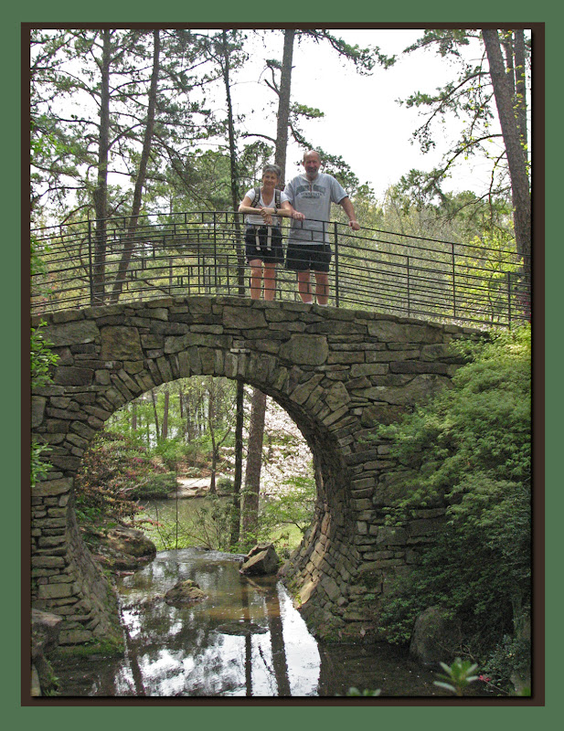 C Bruce on Moon Bridge at Garvin Gardens
