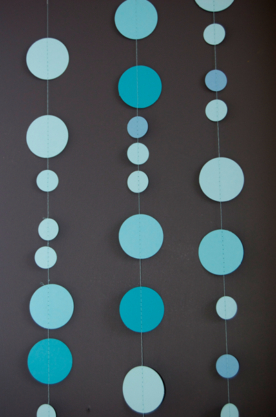 sewn circle garland tutorial