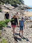It's always so interesting to hike along the rocky shore in Maine - the ocean breeze is very refreshing.
