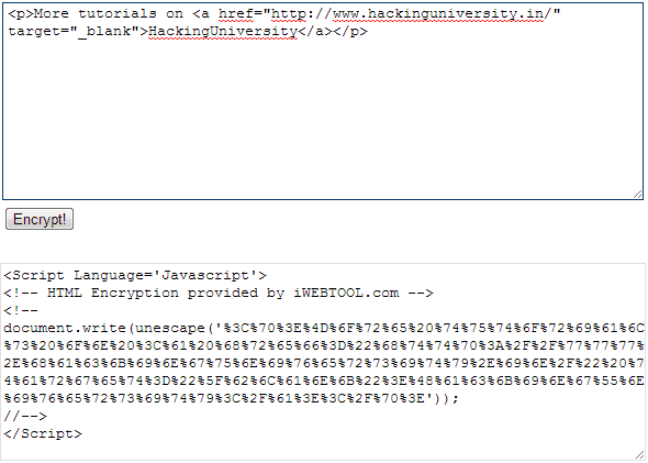 HTML-Encrypter-Tool