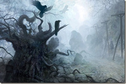 bosque 378564_les_mrachnyj_tuman_vorony_derevya_1920x1080_(www.GdeFon.ru)
