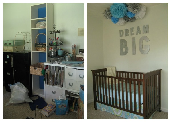crib wall before and after
