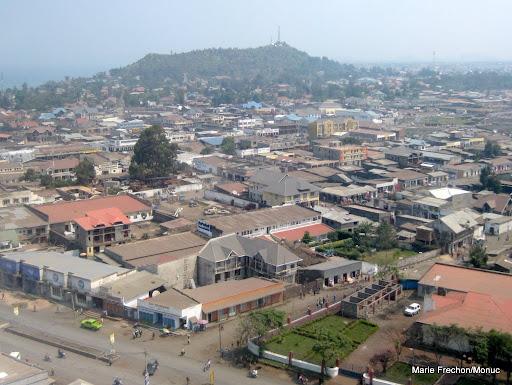 Une vue aérienne de la ville de Goma, 26/06/2009.