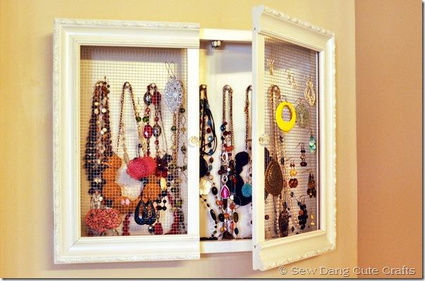 Jewelry Cabinet with door open