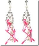 Tom Binns Crystal, Pearl and Safety Pin earrings