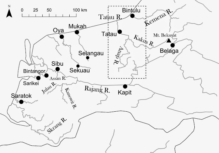 Figure 2: Rivers around the Tatau River